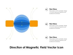 Direction Of Magnetic Field Vector Icon Ppt PowerPoint Presentation Icon Diagrams PDF