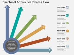 Directional Arrows For Process Flow Powerpoint Templates