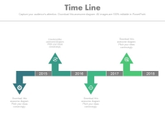 Directional Linear Timeline Diagram For Business Powerpoint Slides
