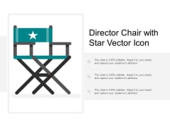Director Chair With Star Vector Icon Ppt Powerpoint Presentation Pictures Demonstration