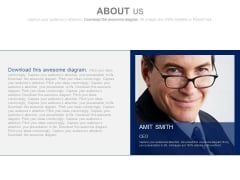 Director Profile On About Us Slide Powerpoint Slides