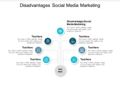 Disadvantages Social Media Marketing Ppt PowerPoint Presentation Professional Elements Cpb