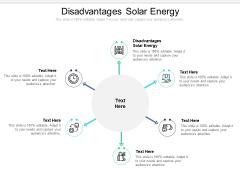 Disadvantages Solar Energy Ppt PowerPoint Presentation Styles Show Cpb Pdf