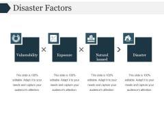 Disaster Factors Ppt PowerPoint Presentation Deck