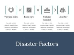 Disaster Factors Ppt PowerPoint Presentation Guidelines