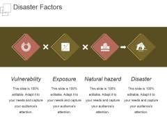 Disaster Factors Ppt PowerPoint Presentation Infographic Template