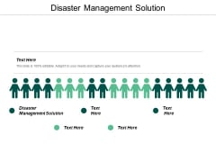Disaster Management Solution Ppt PowerPoint Presentation Styles Cpb