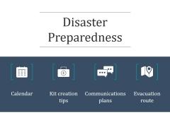 Disaster Preparedness Ppt PowerPoint Presentation Design Ideas
