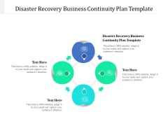 Disaster Recovery Business Continuity Plan Template Ppt PowerPoint Presentation Gallery Sample Cpb Pdf