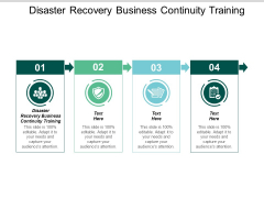 Disaster Recovery Business Continuity Training Ppt PowerPoint Presentation Gallery Slide Portrait Cpb