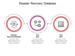 Disaster Recovery Database Ppt PowerPoint Presentation Outline Good Cpb