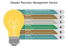 Disaster Recovery Management Service Ppt PowerPoint Presentation Gallery Grid Cpb