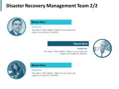 Disaster Recovery Management Team Communication Ppt PowerPoint Presentation Gallery Deck