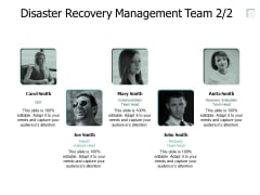 Disaster Recovery Management Team Communication Ppt PowerPoint Presentation Layouts Slide Download