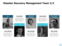 Disaster Recovery Management Team Communication Ppt PowerPoint Presentation Portfolio Picture