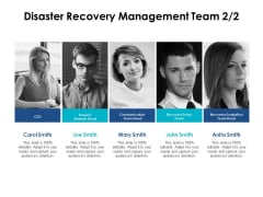 Disaster Recovery Management Team Communication Ppt PowerPoint Presentation Portfolio Sample
