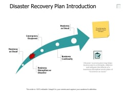 Disaster Recovery Plan Introduction Growth Ppt PowerPoint Presentation Slides Show