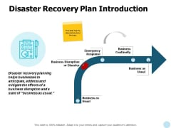 Disaster Recovery Plan Introduction Ppt PowerPoint Presentation Inspiration Graphics Design