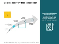 Disaster Recovery Plan Introduction Ppt PowerPoint Presentation Portfolio Visual Aids
