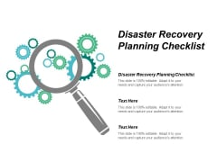 Disaster Recovery Planning Checklist Ppt Powerpoint Presentation Infographics Model Cpb
