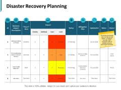 Disaster Recovery Planning Ppt PowerPoint Presentation Icon Skills