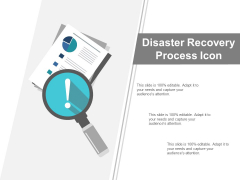 Disaster Recovery Process Icon Ppt PowerPoint Presentation Professional Clipart