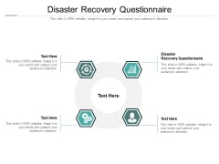 Disaster Recovery Questionnaire Ppt PowerPoint Presentation Slides Images Cpb Pdf
