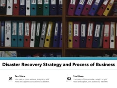 Disaster Recovery Strategy And Process Of Business Ppt PowerPoint Presentation Gallery Information PDF