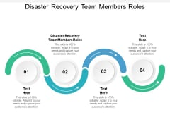 Disaster Recovery Team Members Roles Ppt PowerPoint Presentation Gallery Ideas Cpb