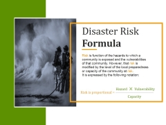 Disaster Risk Formula Ppt PowerPoint Presentation Introduction