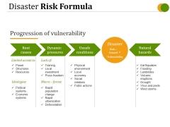 Disaster Risk Formula Ppt PowerPoint Presentation Outline Graphics Tutorials