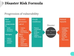 Disaster Risk Formula Template 1 Ppt PowerPoint Presentation Example 2015