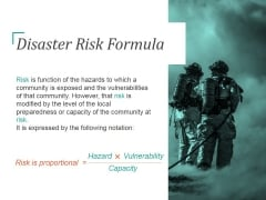 Disaster Risk Formula Template 2 Ppt PowerPoint Presentation Diagrams