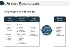 Disaster Risk Formula Template 2 Ppt PowerPoint Presentation Themes
