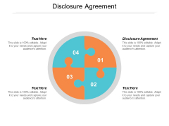Disclosure Agreement Ppt PowerPoint Presentation Summary Visual Aids Cpb