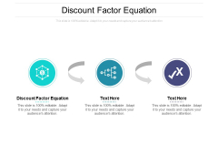 Discount Factor Equation Ppt PowerPoint Presentation Professional File Formats Cpb Pdf