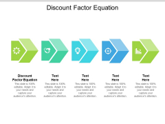 Discount Factor Equation Ppt PowerPoint Presentation Slides Background Images Cpb Pdf