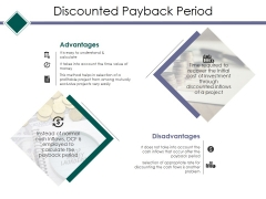Discounted Payback Period Ppt PowerPoint Presentation Layouts Graphics