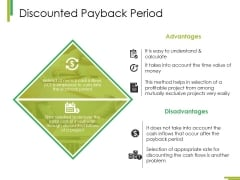 Discounted Payback Period Ppt PowerPoint Presentation Outline Background Designs