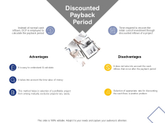 Discounted Payback Period Ppt PowerPoint Presentation Portfolio Structure
