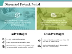 Discounted Payback Period Ppt PowerPoint Presentation Summary Examples