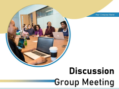 Discussion Group Meeting Idea Icon Communication Circle Ppt PowerPoint Presentation Complete Deck