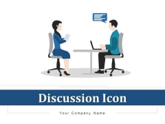 Discussion Icon Human Resource Ppt PowerPoint Presentation Complete Deck