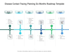 Disease Contact Tracing Planning Six Months Roadmap Template Ideas