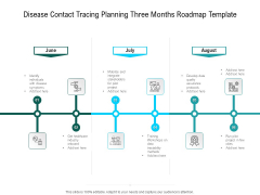 Disease Contact Tracing Planning Three Months Roadmap Template Sample