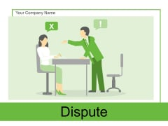 Dispute Business Strategy Ppt PowerPoint Presentation Complete Deck