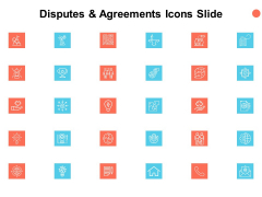 Disputes And Agreements Icons Slide Checklist Ppt PowerPoint Presentation Infographics Slide Portrait