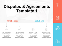 Disputes And Agreements Template Challenges Ppt PowerPoint Presentation Infographics Designs Download
