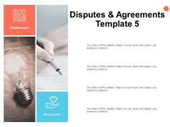 Disputes And Agreements Template Idea Bulb Ppt PowerPoint Presentation Model Graphics Download