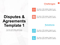 Disputes And Agreements Template Opportunity Ppt PowerPoint Presentation Diagrams